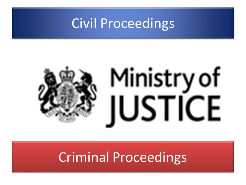 Civil Proceedings Criminal Proceedings