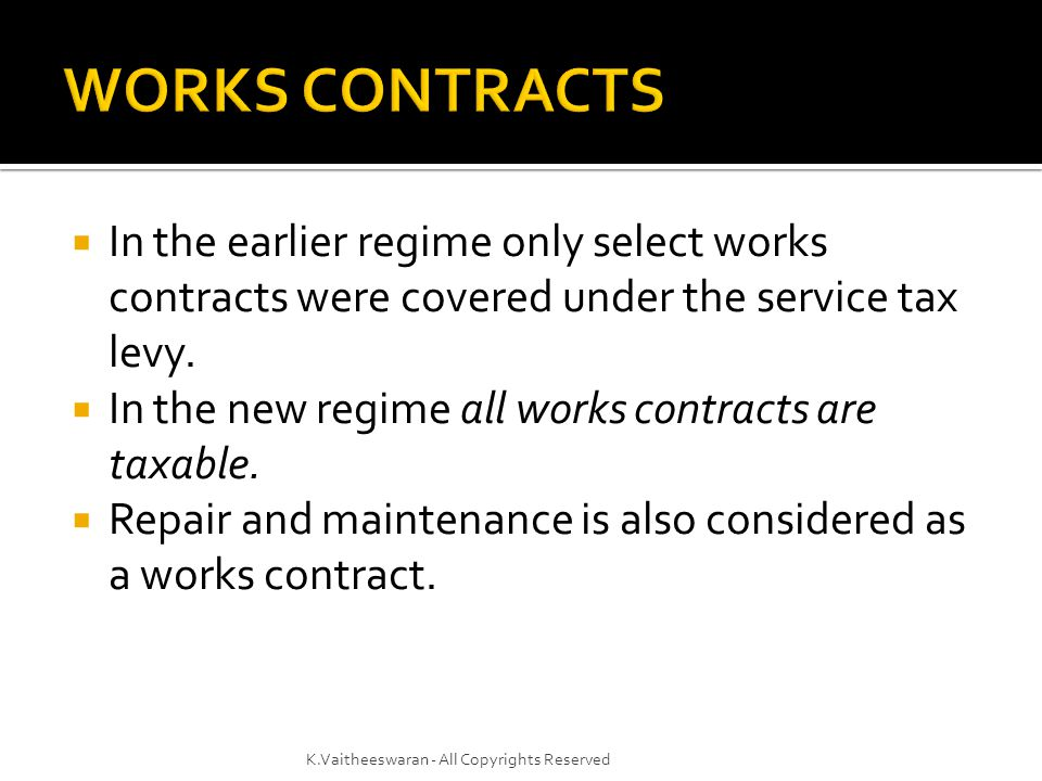  Value of service portion = Gross amount charged for the works contract Less the value of property in goods transferred in the execution of the said works contract.