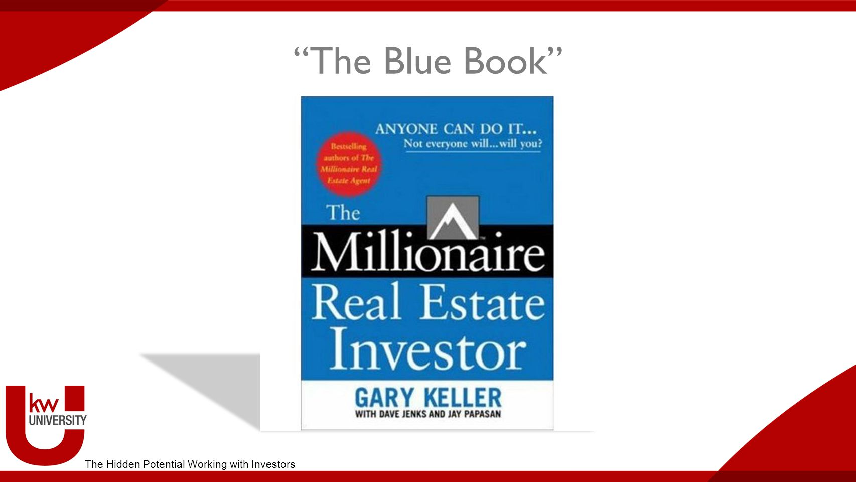 The Blue Book The Hidden Potential Working with Investors
