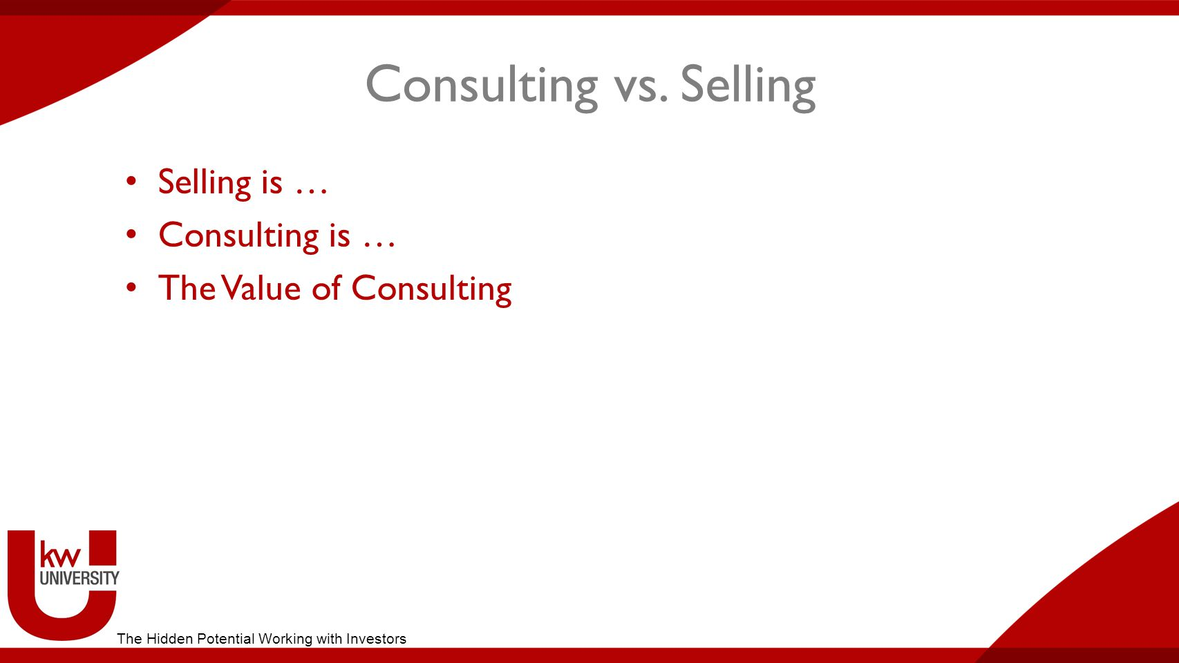 Consulting vs.