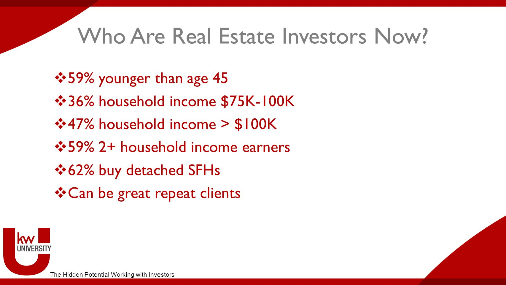 Who Are Real Estate Investors Now.