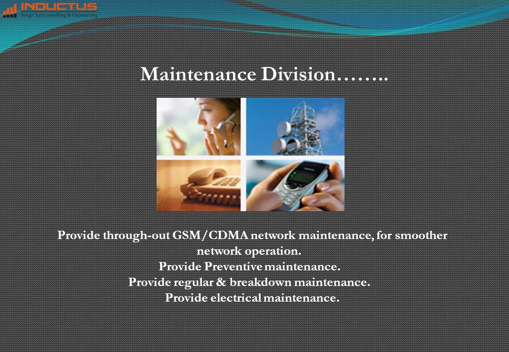 Maintenance Division……..
