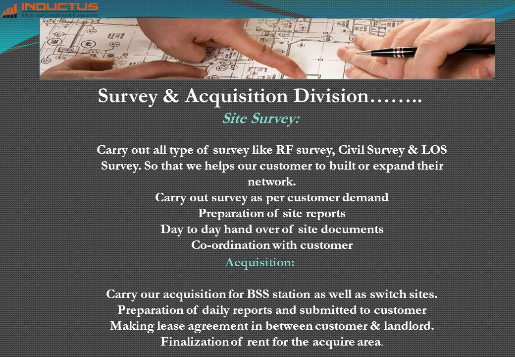 Survey & Acquisition Division……..