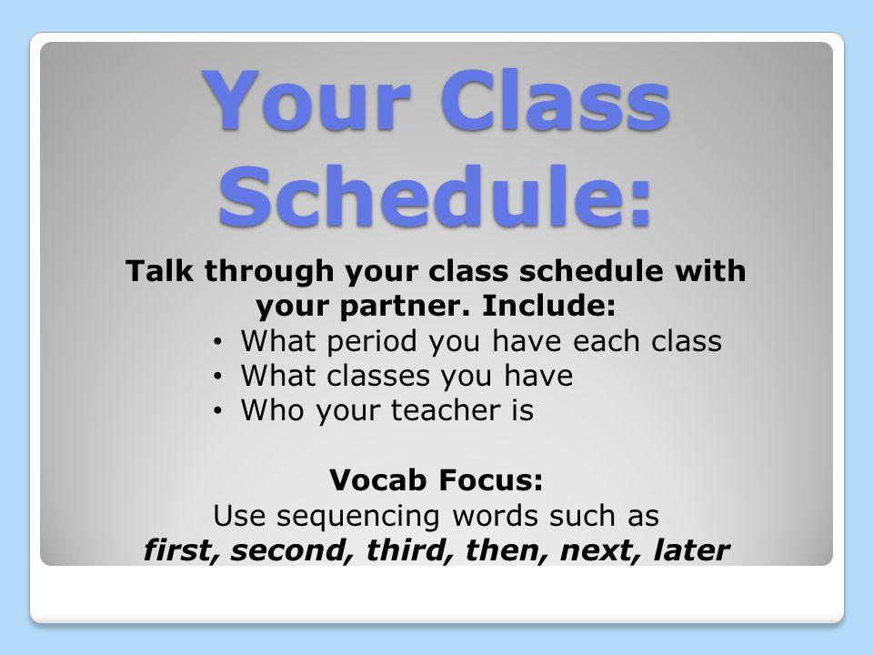 Las clases y los profesores Práctica de conversar