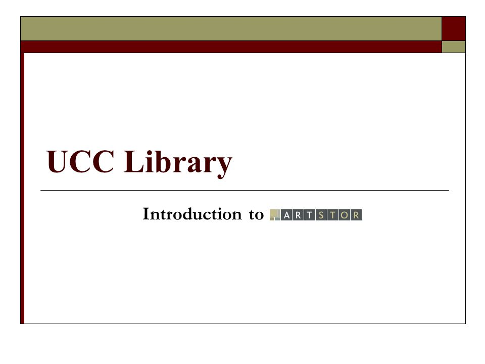 UCC Library Introduction to