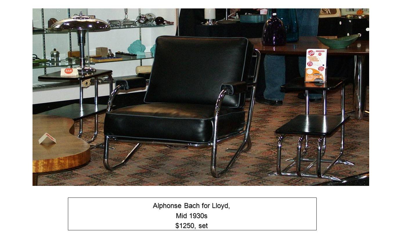 Chrome Desk Lamp 1930s$175 Alphonse Bach for Lloyd, Mid 1930s $1250, set