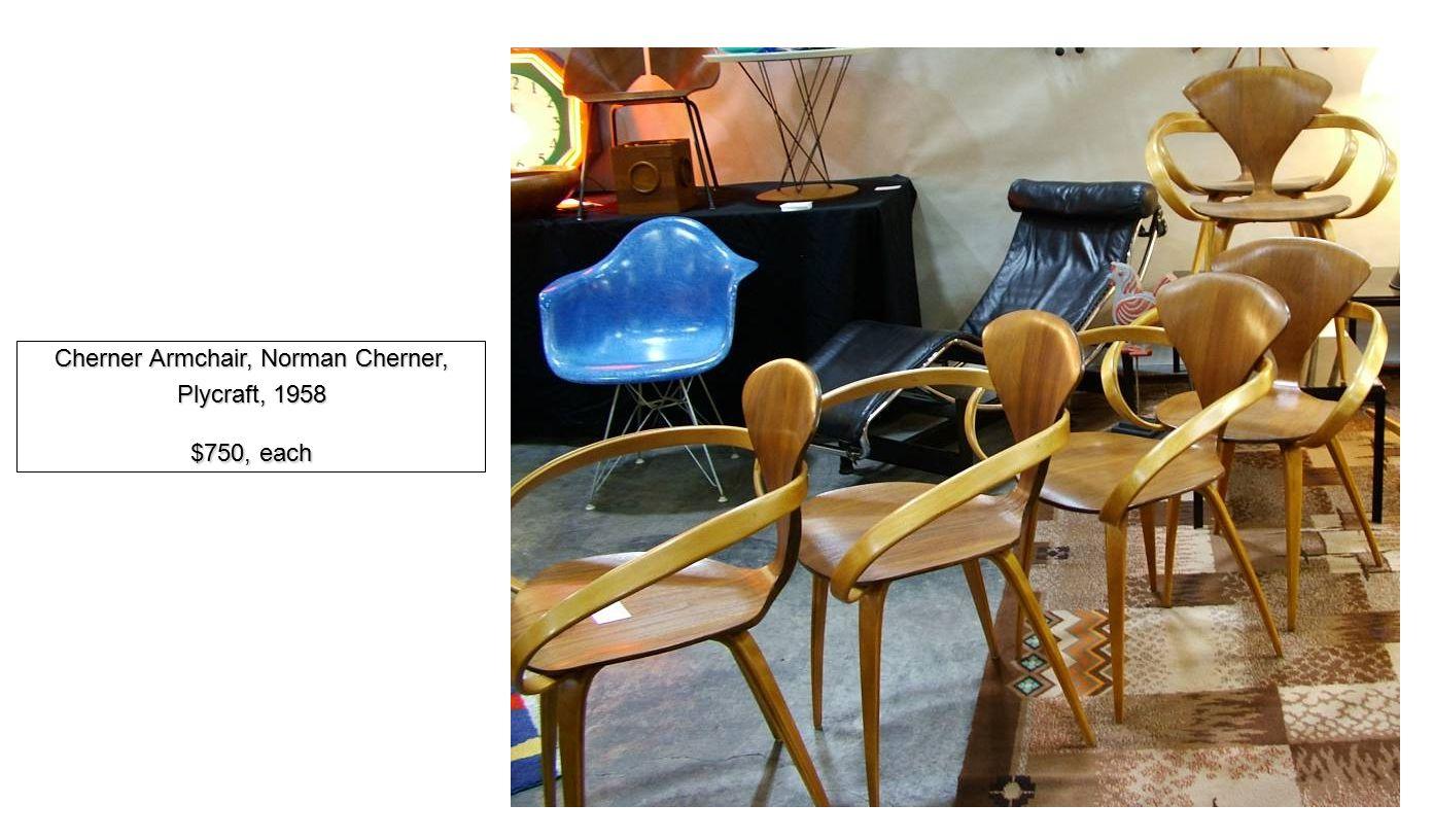 Cherner Armchair, Norman Cherner, Plycraft, 1958 $750, each