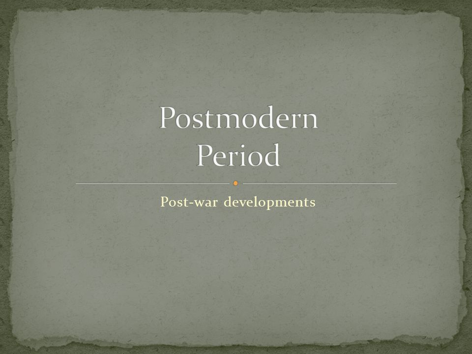 [edit] Technoculture and hyperrealityedit Fredric Jameson called postmodernism the cultural logic of late capitalism .