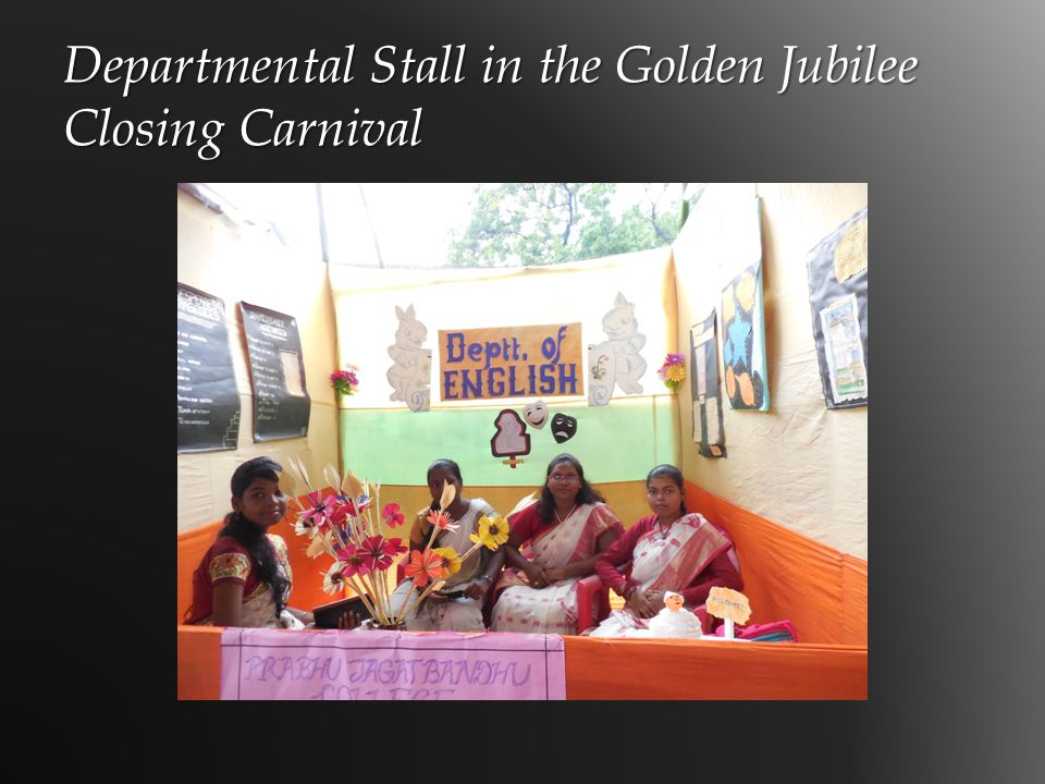 Departmental Stall in the Golden Jubilee Closing Carnival