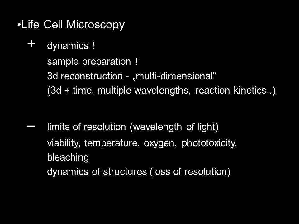Life Cell Microscopy + dynamics . sample preparation .