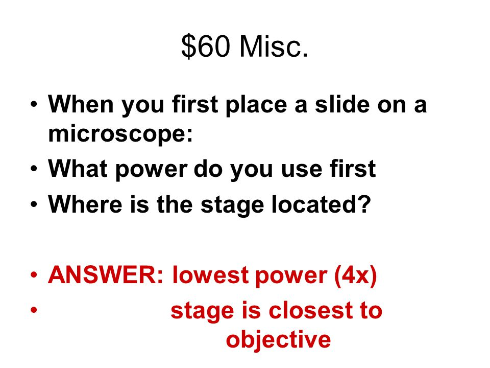 $60 Misc.