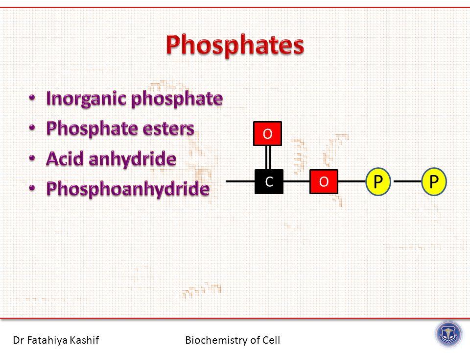Biochemistry of CellDr Fatahiya Kashif CO P O P