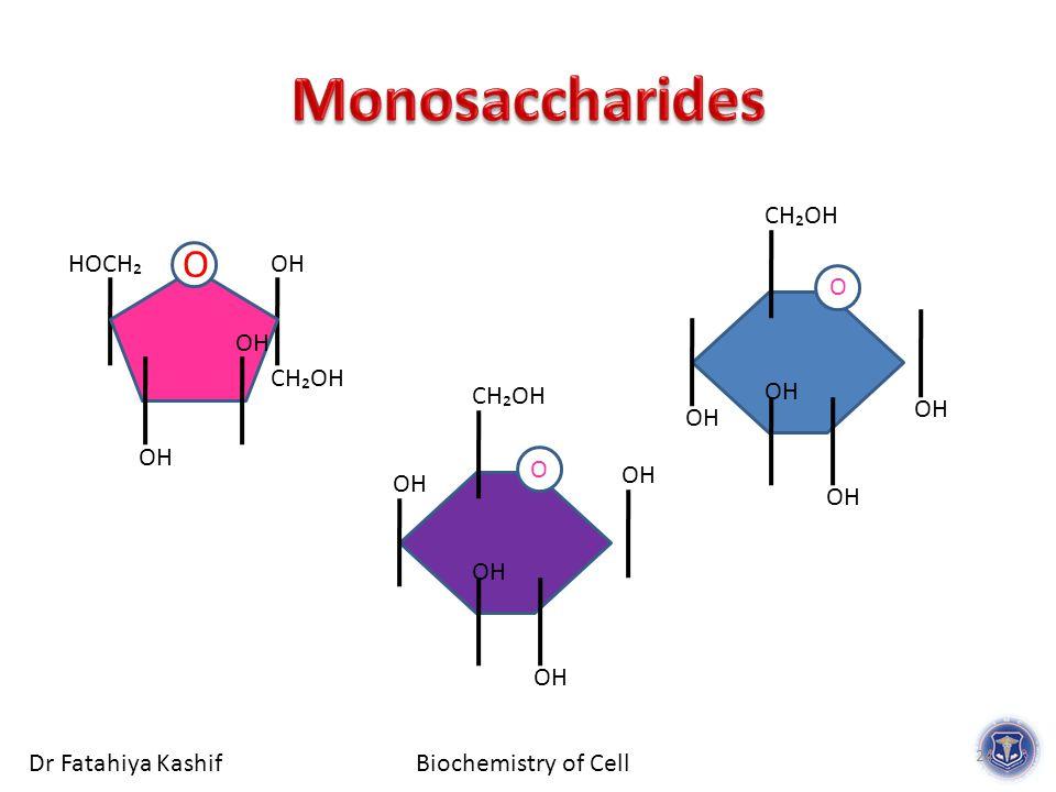 Biochemistry of CellDr Fatahiya Kashif OH CH₂OH OH O CH₂OH O HOCH₂ OH CH₂OH OH O 24