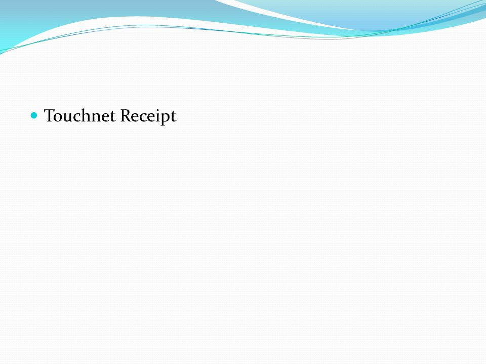 Touchnet Receipt