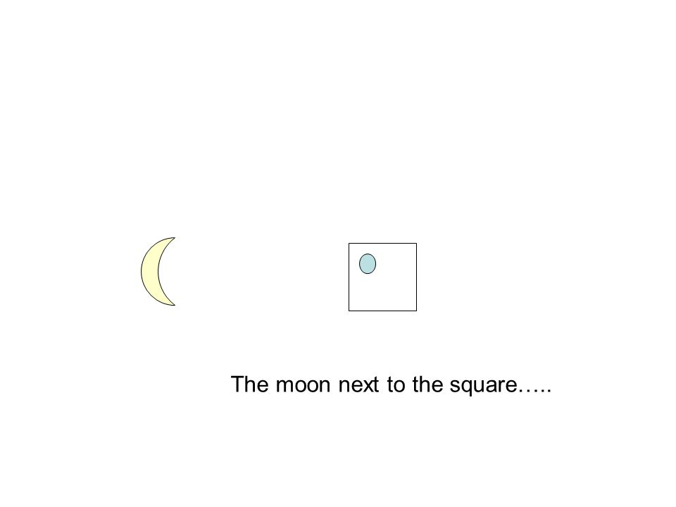 The moon next to the square…..