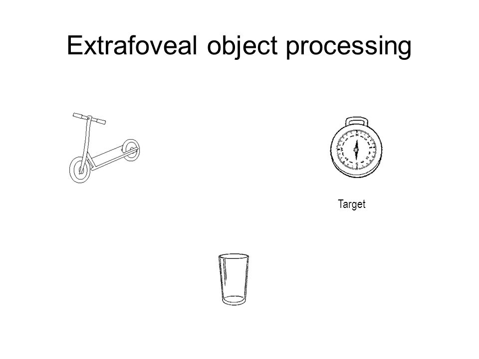 Extrafoveal object processing Target