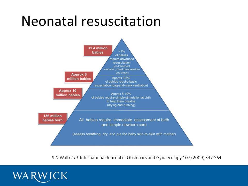Neonatal resuscitation S.N.Wall et al.