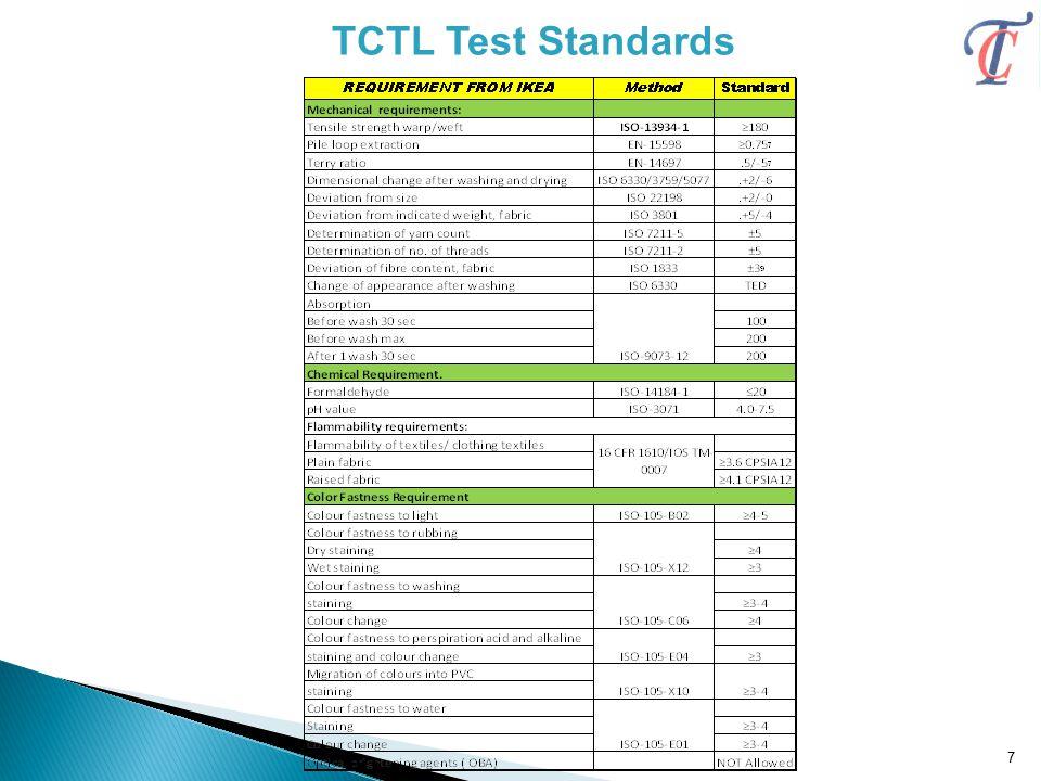 TCTL Test Standards 7