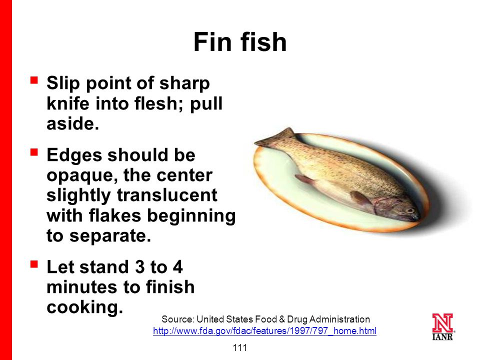 110 Signs of safely cooked seafood..