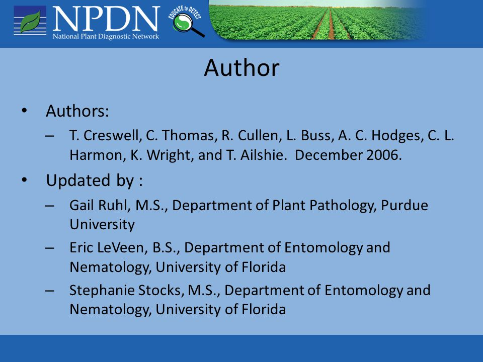 Author Authors: – T. Creswell, C. Thomas, R. Cullen, L.