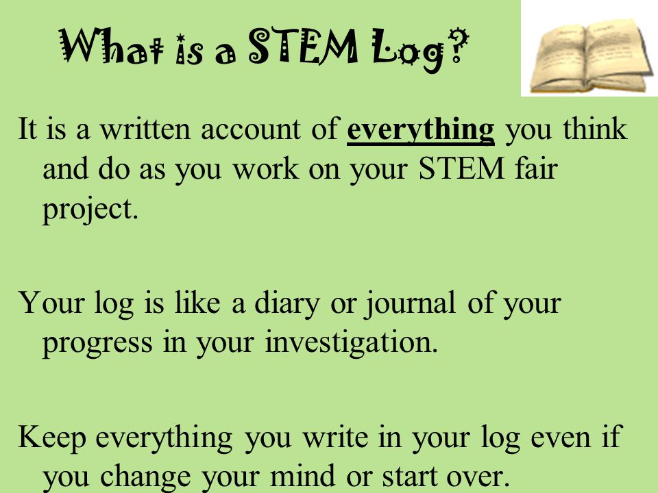 What is a STEM Log.