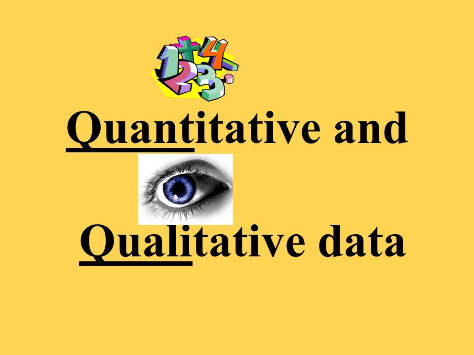 Quantitative and Qualitative data