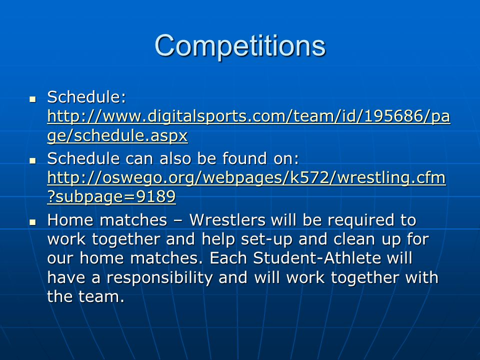 Practice Planning My goal is to make wrestling a fun and competitive experience for every member of the program.