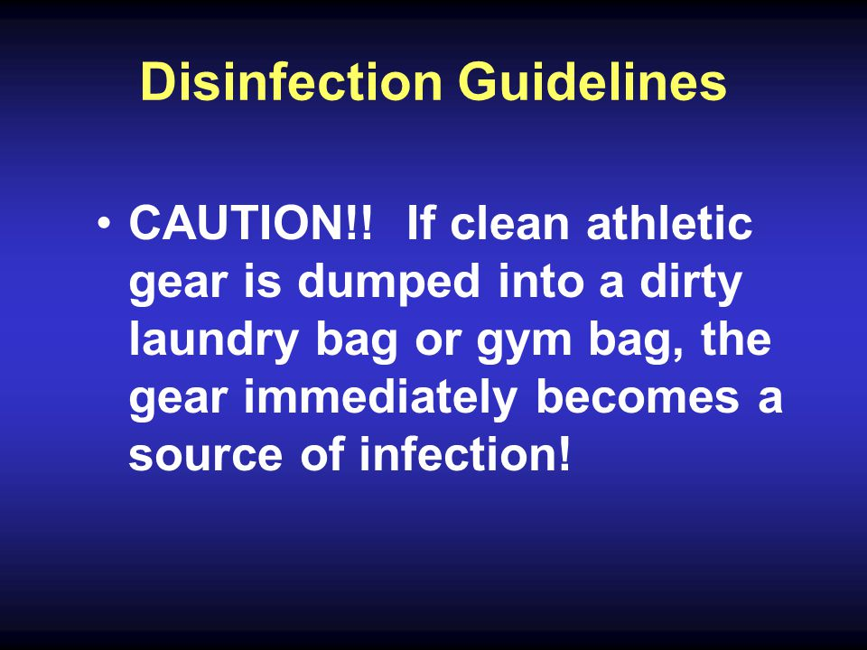 Disinfection Guidelines CAUTION!.