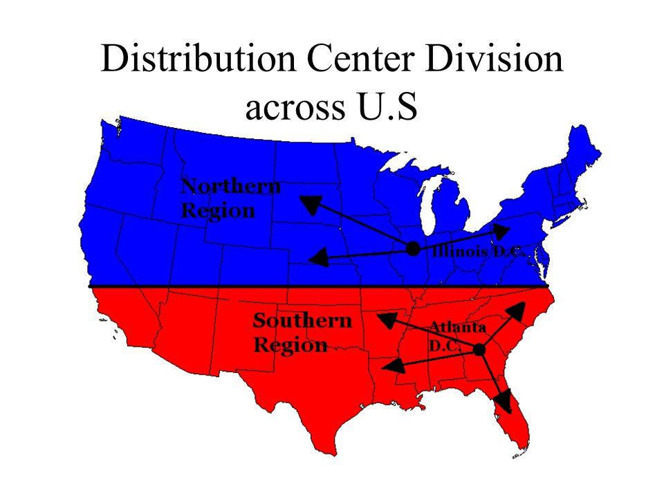 Distribution Center Division across U.S