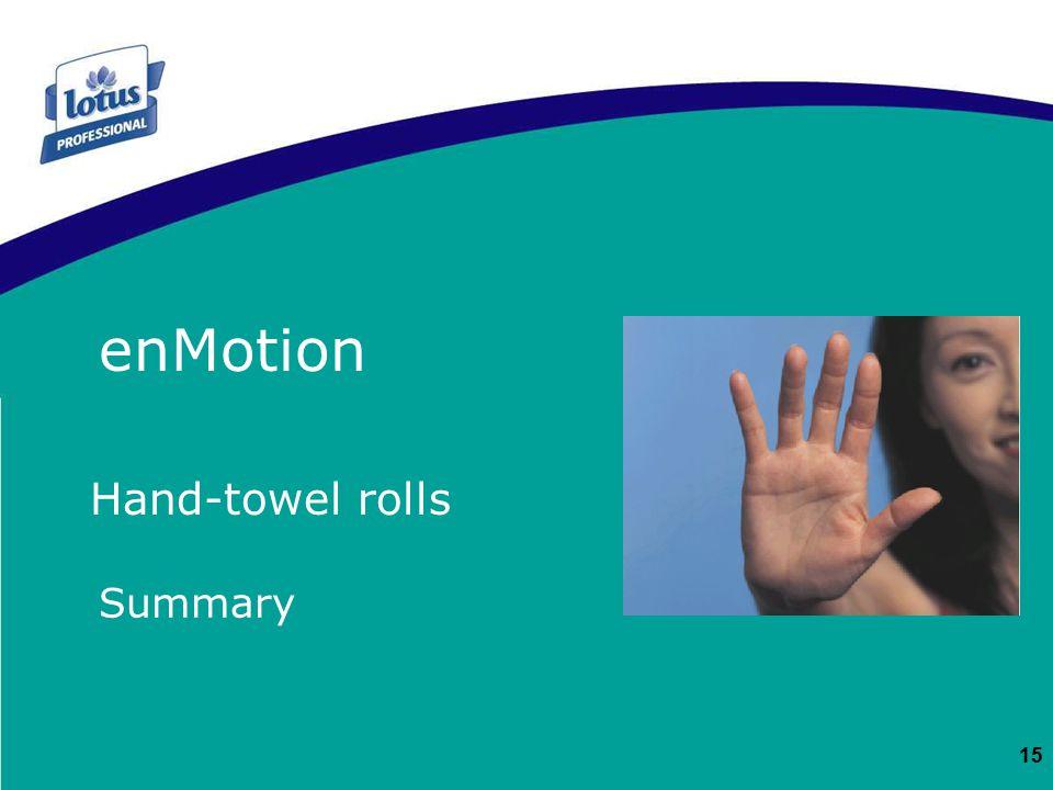 15 Summary TABLEAU DE SYNTHÈSE enMotion Hand-towel rolls