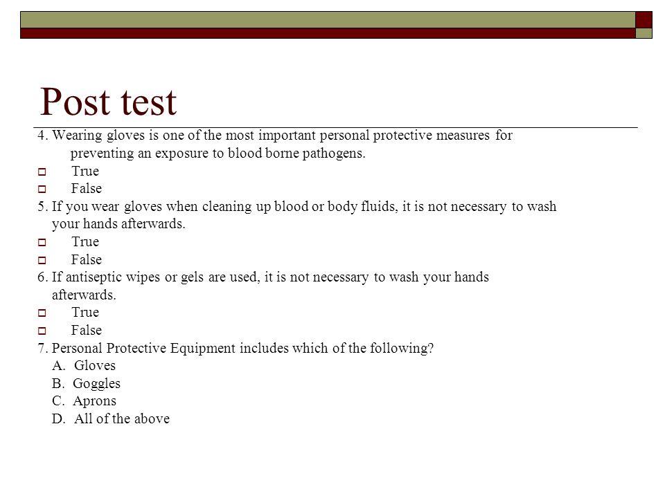 Post test 4.