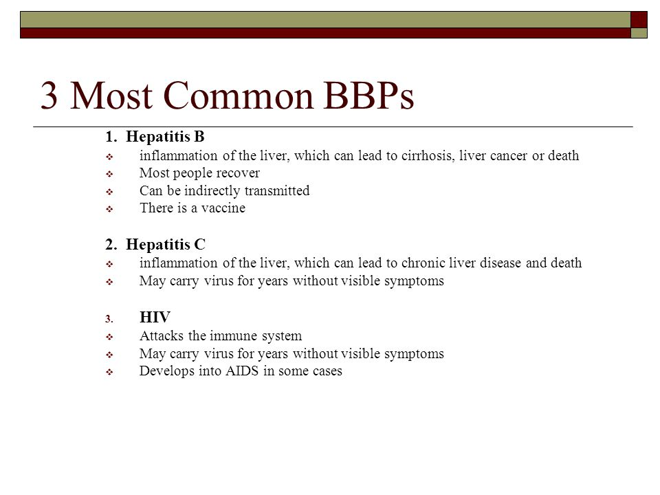 3 Most Common BBPs 1.