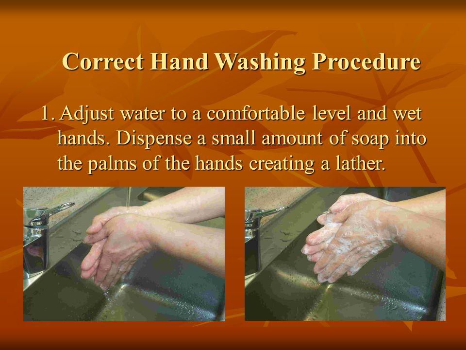 Correct Hand Washing Procedure 2.