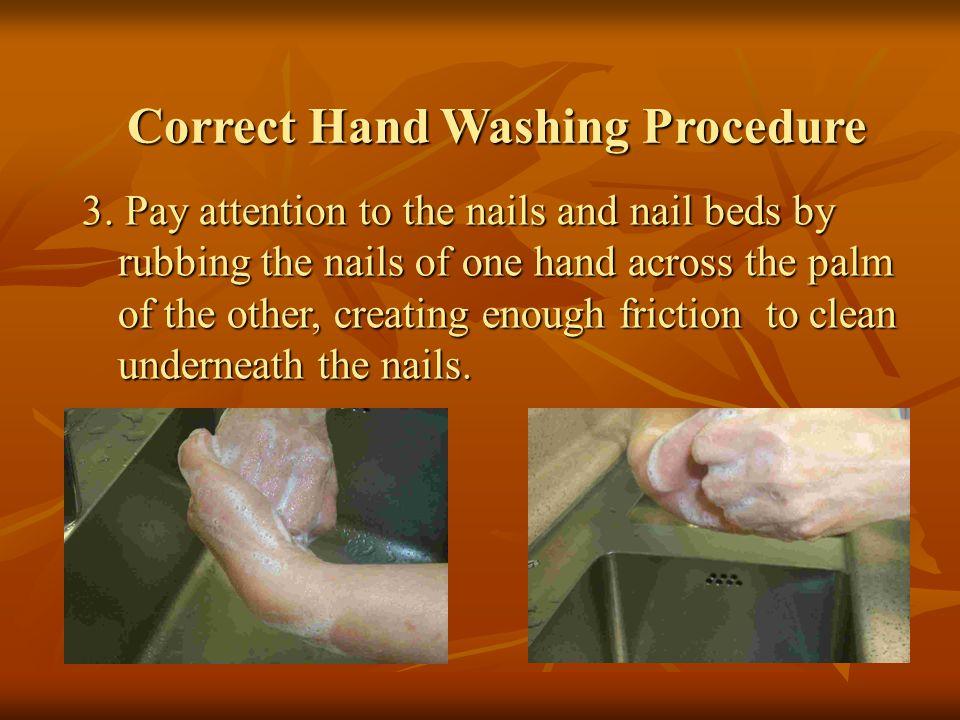 Correct Hand Washing Procedure 4.