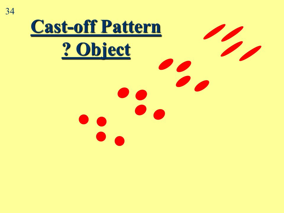 Cast-off & medium velocity spatter 2 33