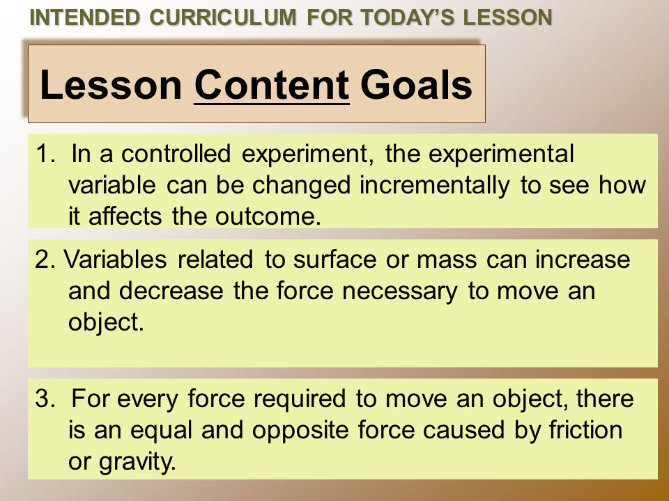 Lesson Content Goals 3.