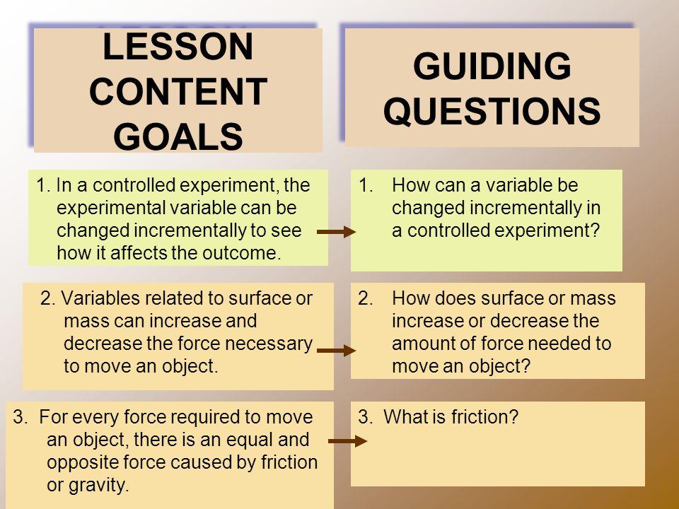 LESSON CONTENT GOALS 2.