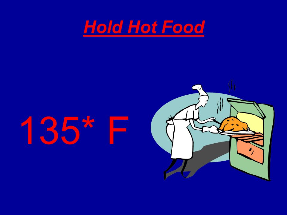 Hold Hot Food 135* F