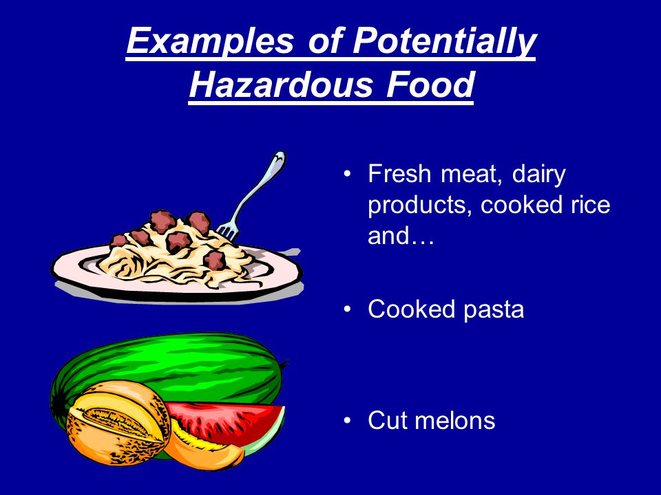 Safe Guards (Cont.) While preparing food, employees may not wear jewelry on their arms and hands.