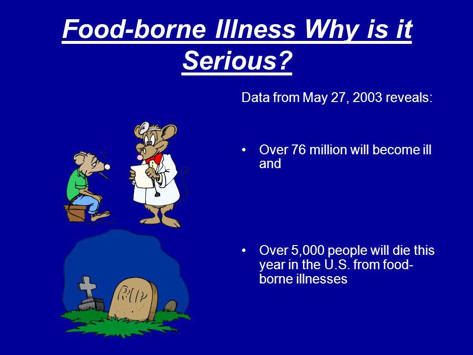 Symptoms of Food-borne Illness Vomiting Diarrhea Cramps Fever Nausea Possible death