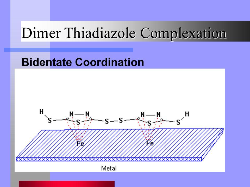 Dimer Thiadiazole Complexation Bidentate Coordination