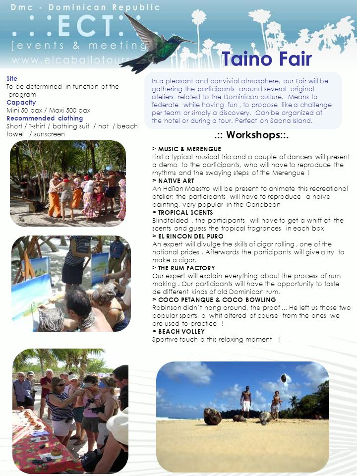 Taino Fair.:: Workshops::.