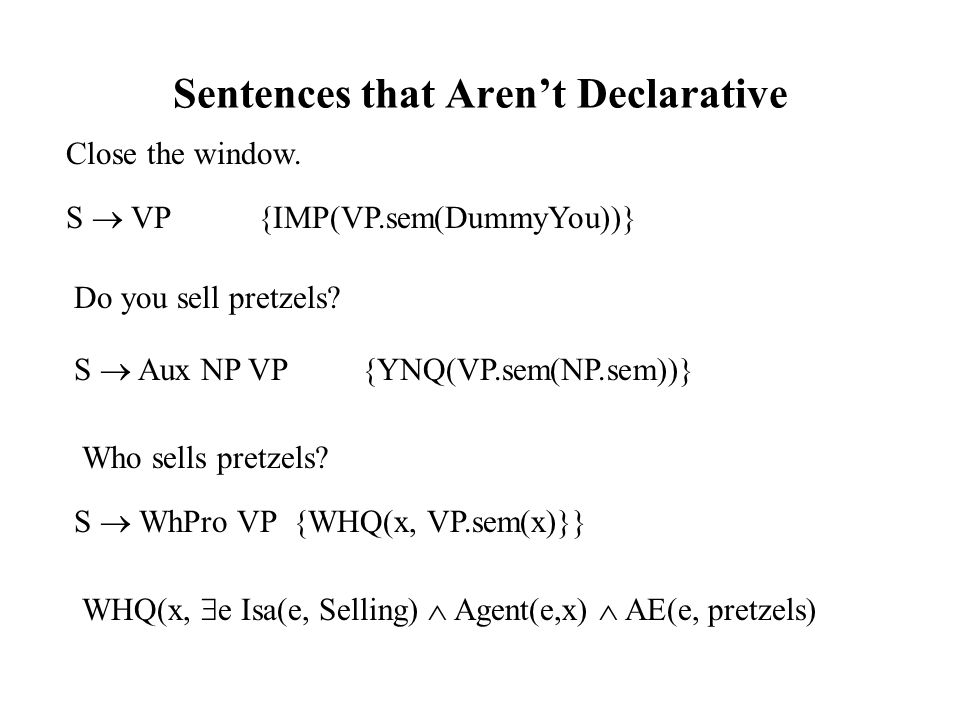 Sentences that Aren't Declarative Close the window.
