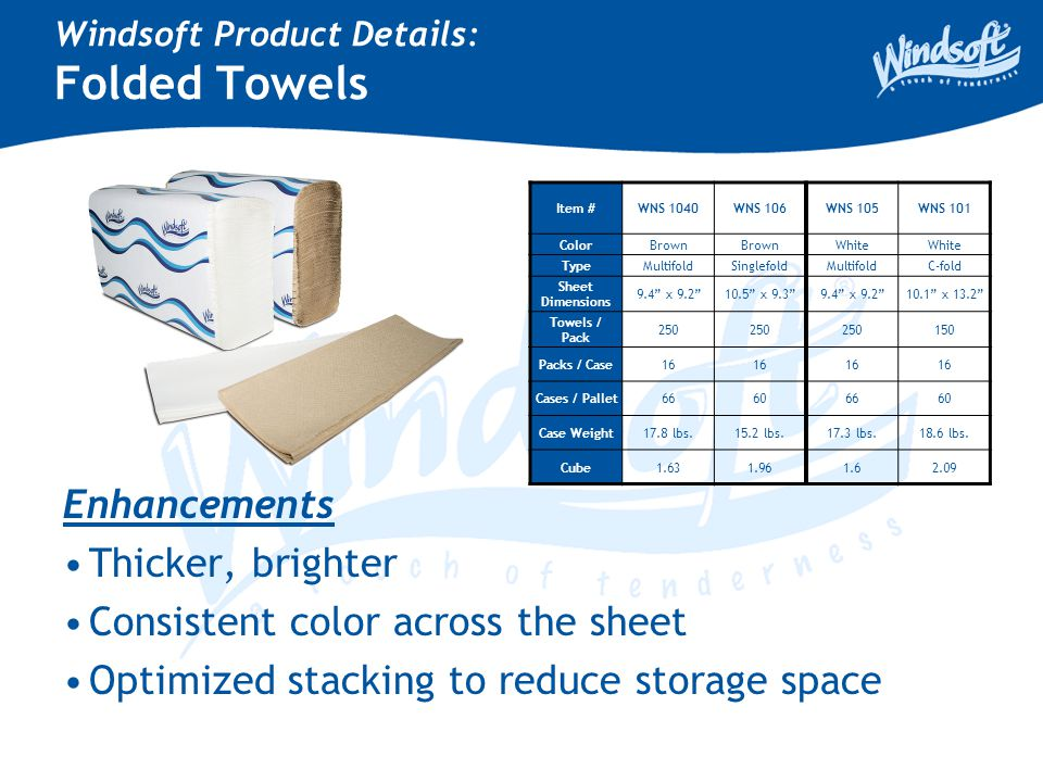 Windsoft Product Details: Hard Roll Towels Item # WNS 108 WNS 1180 WNS 1280 WIN 1280-6 NL - Lagasse WNS 109 WNS 1190 WNS 1290 WIN 1290-6 NL - Lagasse ColorBrown White Core Size 2.0 Roll Width 8.0 Roll Lgth.