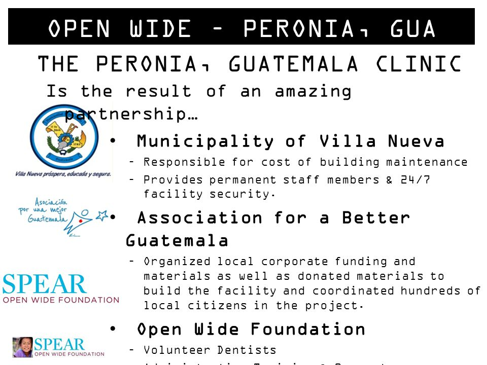 OVERVIEW Arriving in Guatemala Antigua Introduction to the Peronia Permanent Staff Schedule for the week Clinic Setup, Triage & Workflow System Charting & Stats Making Memories WORKING TOGETHER IS BETTER