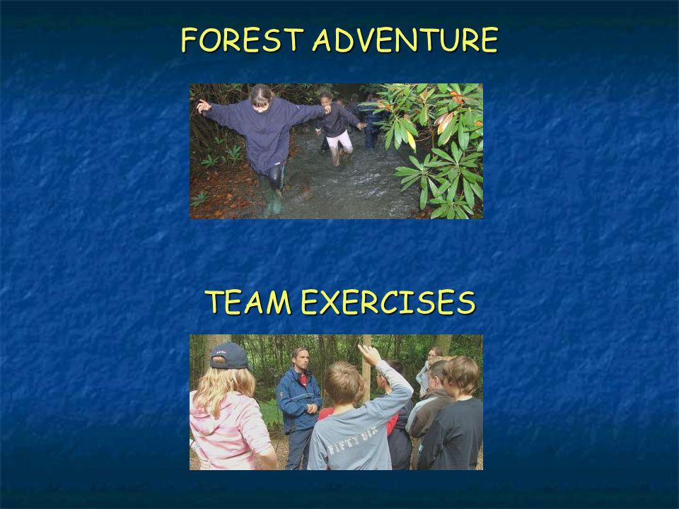 FOREST ADVENTURE TEAM EXERCISES