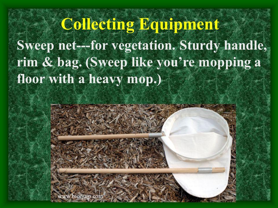 Collecting Equipment Sweep net---for vegetation. Sturdy handle, rim & bag.