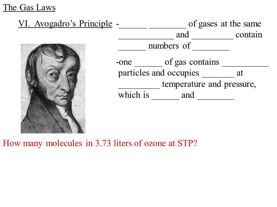 The Gas Laws VI.