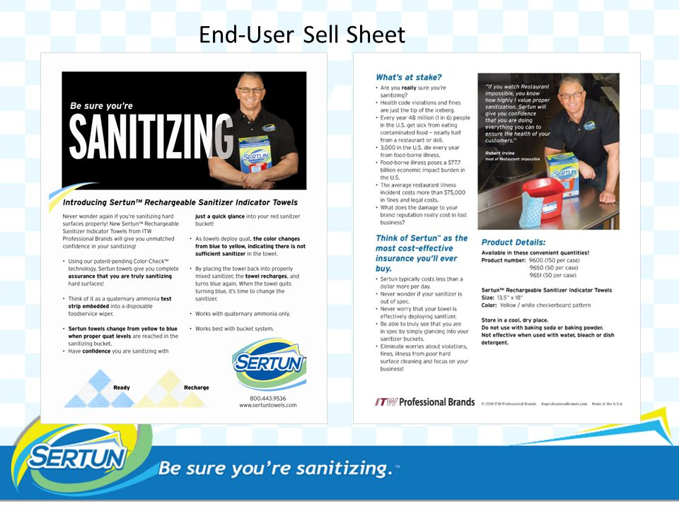 End-User Sell Sheet