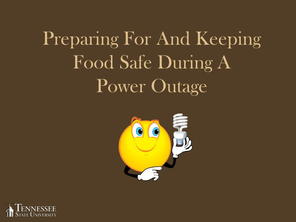 Preparing For And Keeping Food Safe During A Power Outage